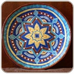 Расписные декоративные тарелки из папье-маше