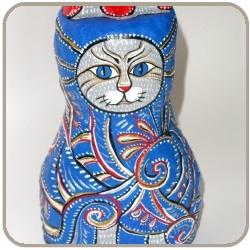 Кот расписной из папье-маше